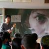 Японы сургуулийн самбар дээрх зургууд